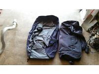 2 X LARGE TRAVEL BAGS WITH WHEELS ( NEED AWAY ASAP )