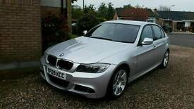 BMW 3 Series Saloon (2009) Silver E90 Facelift 2.0 318d M Sport 4dr. Low Mileage