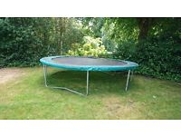 Trampoline - Heavy duty 4m wide. Dismantled and ready for collection - £25