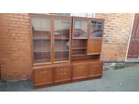 G plan wooden glass cabinet. FREE delivery in Derby