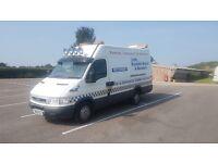 iveco daily mwb high top recovery van/ mobile workshop van or ideal race van transporter / camper