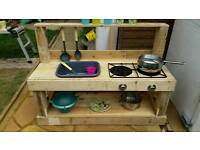 Handmade toy kitchen