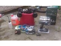 rc nitro car everything comes with it does needs a good tune