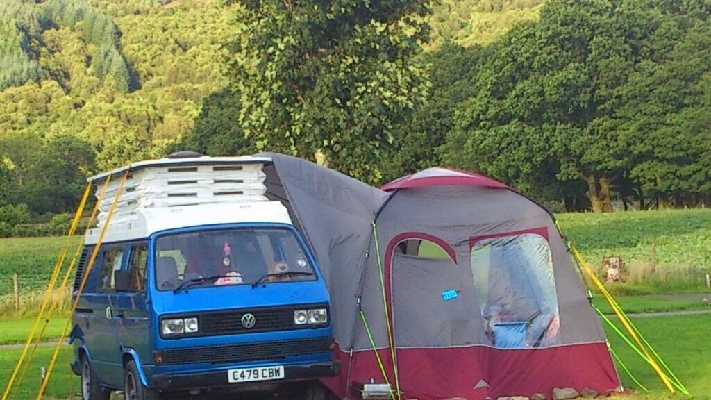 VW T25 CAMPERVAN 1985 POPTOP Awning Thermal Screens Vw Table Stereo
