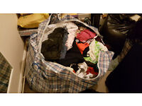 3 very large bags (eqv. 2 bin liners) excellent condition girls / womens clothes