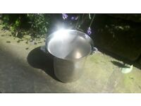 Vintage Style Champagne Wine Ice Bucket Drinks Cooler Chiller Lager Metal Stainless Steel Silver
