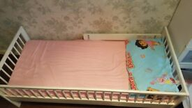 KIDS SINGLE BED WITH USED MATTRESS FOAM OVERALL GOOD CONDITION
