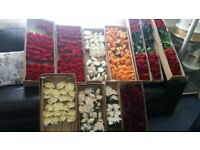 Silk Roses - Beautiful for weddings - Only 5 boxes of the reds remaining
