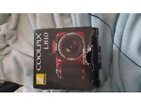 nikon coolpix l810, comes with the box, cables and discs, fantastic condition like new