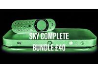 SKYQ discount bundles for only £10 pm or full bundle £57 !! Pm expert INSTALLATION - SKY TV - UPDATE