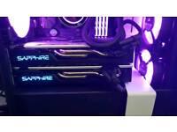 2x AMD RX 580 8GB Sapphire Nitro+ Graphics Cards
