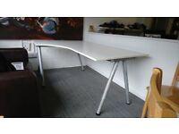 IKEA Galant white office corner desk