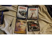 Resident evil 3, Outbreak file 1 and 2 and Code Veronica X