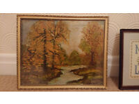 Original Oil Painting and Frame