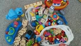Huge bundle of wooden and toddler toys