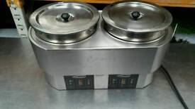 Hatco double round heated soup kettle Bain marie 2 x 10l