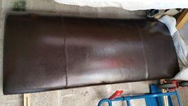 Brown Faux Leather kingsize headboard