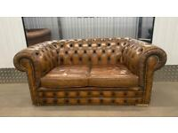 A fine 20th century 2 seater leather chesterfield sofa £750