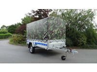 CAMPING TRAILER 9ft x 4ft, FLATBED, TIPPER