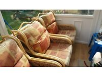 conservatory 2 seater sofa and 2 chairs