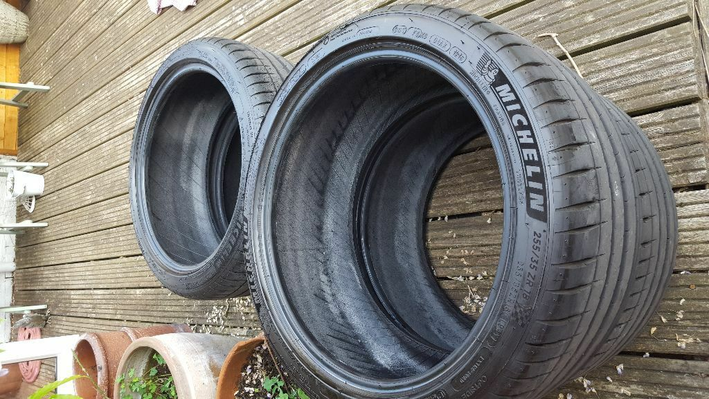 2 x as new michelin pilot sport 4 255 35 18 tyres in. Black Bedroom Furniture Sets. Home Design Ideas