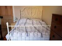 Double bed metal frame , excellent condition, mattress included