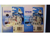 Genuine Epson 27xl Alarm Clock Set Multipack Black Cyan Magenta Yellow