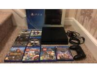 Ps4 500gb with 8 games