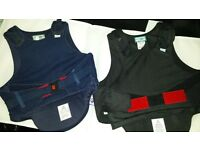 """2xHorse riding body protector suits 33-35"""" sm adult & 27-30"""" £12@ have 1 blk velvet hat pics blw"""