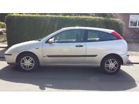 Ford Focus 1.8 Zetec in Silver 03 plate.