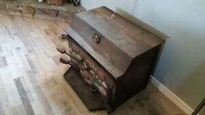 Old timer wood fireplace
