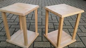 Two wood nest tables