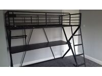 Almost new metal bunk bed free to collector, can be dismantled.