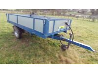 8'x4' Hydraulic Tipping Trailer for Smallholding Equestrian Tractor £850 ono