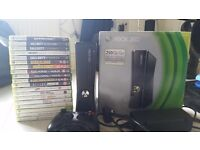 Xbox 360 250gb and 19 games.