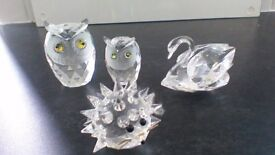 4 SWAROVSKI CRYSTAL COLLECTIBLES..AS NEW