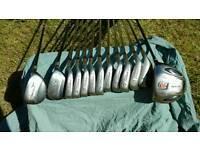 full r/h golf set, titleist dci irons, ping putter, ram driver