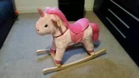 Unicorn rocking horse