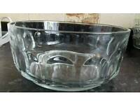 Large glass trifle dish