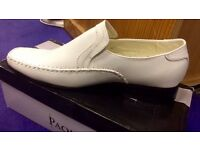 Brand New Men's Low Heel Slip On Leather Upper Wide Toe Loafers