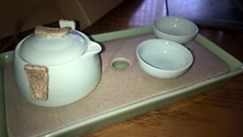 Chinese tea porcelain drinking set (bought in China) with original packaging