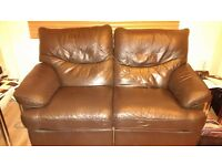 2 seater recliner sofa part leather