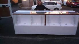 Shop Counter ideal for mobile phone/watches etc includes lights and fixtures