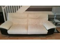 ** Reduced for Quick Sale ** 2 Modern Leather 3 Seater sofas for sale