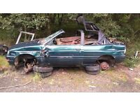 Ford escort convertible parts