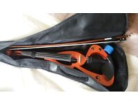 ELECTRIC/SILENT 4 STRING VIOLIN. RED. VGC. £50 ONO