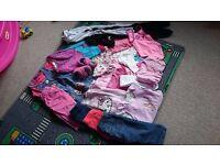 Bundle 6 Baby Girl 12-18 Months Clothes inc Swim Suit, Tops, Leggings, Dresses, Slippers, 25 Items!!