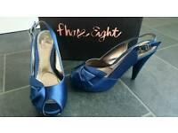 Phase Eight blue satin shoes