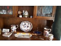 Selection of blue and white and antique China.
