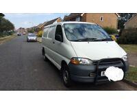 Toyoya Hiace long wheelbase van, tailgate, 1 year MOT, no VAT